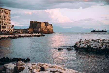 Castel dellOvo in Naples, Campania, Italy.