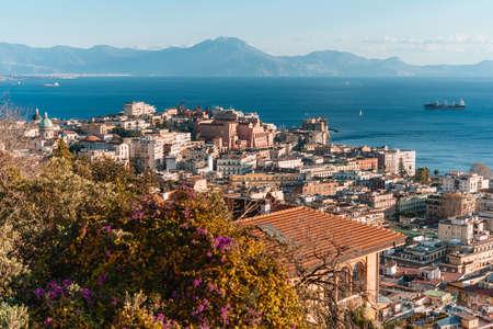 View of Naples, Campania, Italy. 写真素材