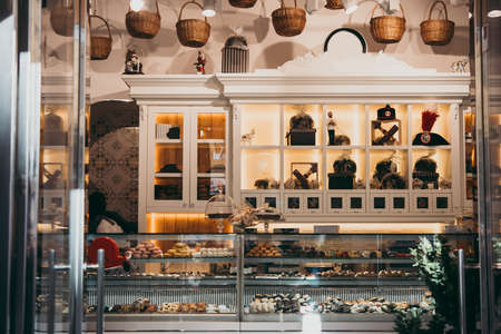 Bakery and cafe in Naples, Campania, Italy.