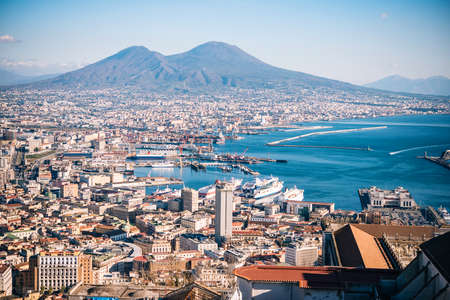 View of Naples, Campania, Italy. Фото со стока
