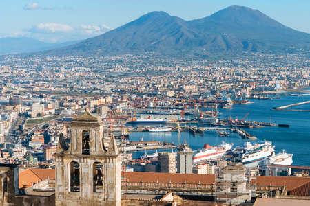 View of Naples, Campania, Italy. Foto de archivo