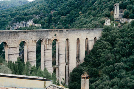 The Towers Bridge, Ponte delle Torri, in Spoleto, Italy