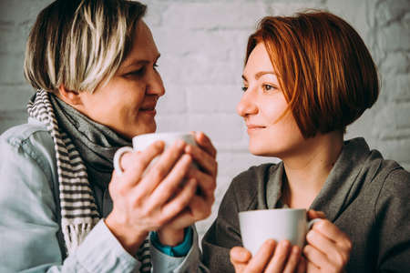 Beautiful lesbian couple. LGBT and same sex marriage concept Stock Photo