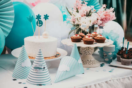 Kids birthday party table decoration