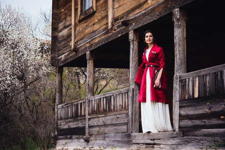 Young beautiful girl wearing traditional georgian dress.