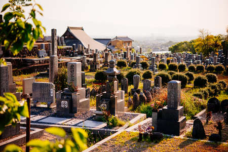 View of a japanese cemetery.