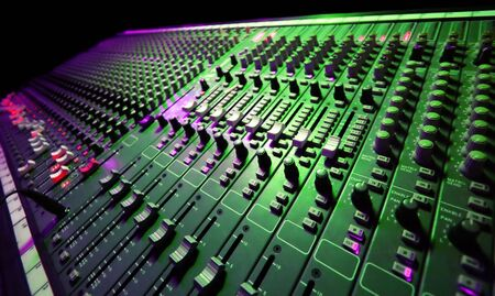 he: Large Music Mixer desk at he Concert Stock Photo