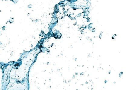 weightless: Salpicadura de agua dulce en el fondo blanco