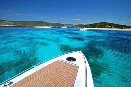 Boat Vacation on Tropical Cruise  Stock Photo