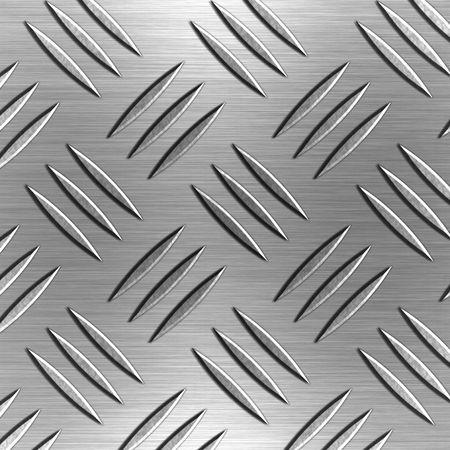 Shiny Silver Diamond Shaped Aluminium Plate  Stock Photo