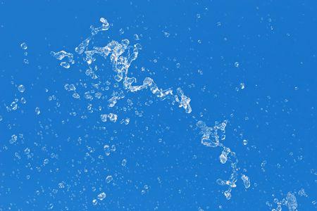 Fresh water SPLASH - water drops floating in the air