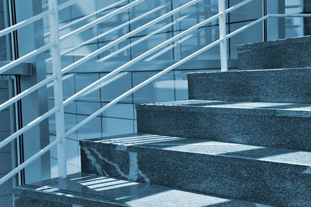 Modern Marble Stairs in Business building Stock Photo