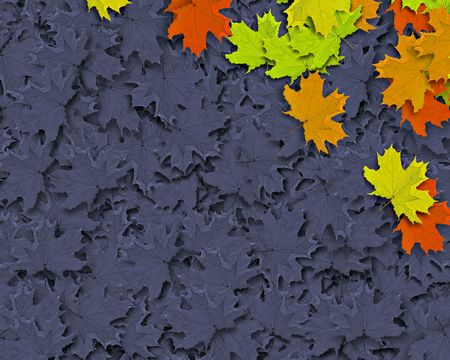 Autum Background with colorful fall leaves falling down from tree photo