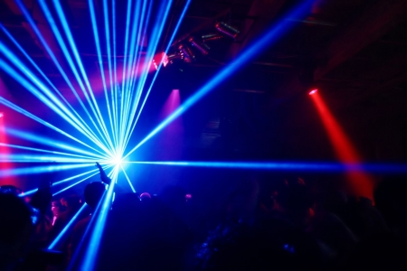 laser show: Party at Disco and laser show