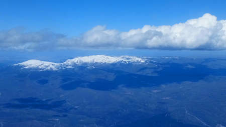 snow capped Spanish mountain