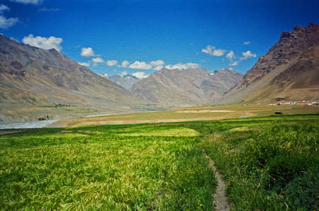 Himalayan valley in Spiti, Himachal Pradesh, India
