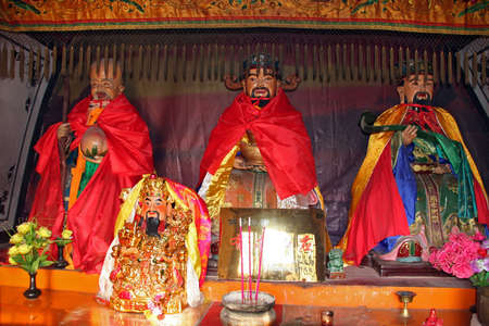 generals: colorful buddhist statues Stock Photo