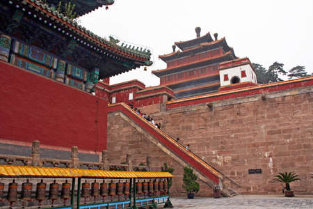 sacral: famous Puning temple s in Chengde, china. Chengde is famous for its tibetan-style temples. Editorial