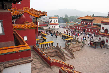 lamaism: famous Puning temple s in Chengde, china. Chengde is famous for its tibetan-style temples. Editorial