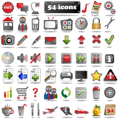 pc icon: 54 colorful Web Icons for the internet