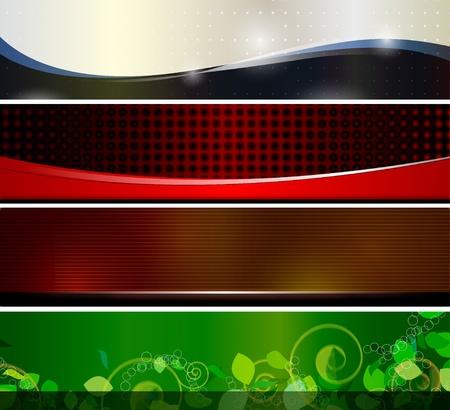header: 4 Banner per l'intestazione del sito web o di qualsiasi progettazione grafica