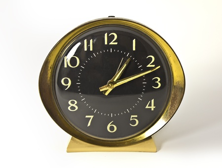 Old clock - gold and black - retro style Stock Photo