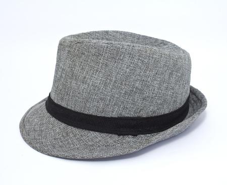 Grey man s hat with black strip around