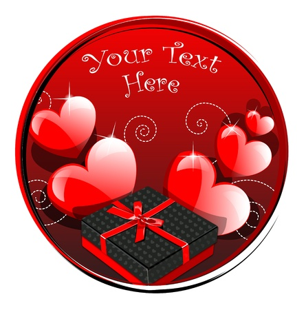 Red Hearts for Valentine Day with two presents Stock Vector - 13327686