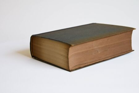 Old Book - isolated on a bright background Stock Photo