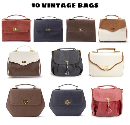 10 Beautiful Vintage Bags Stock Photo - 13430126