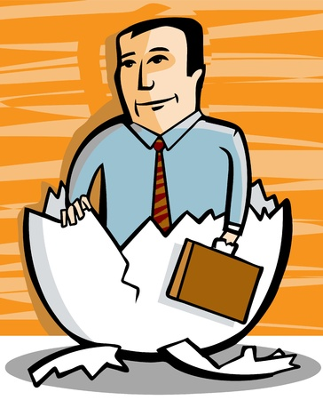 A businessman ready for his new job Stock Vector - 13432321