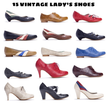 15 beautiful vintage shoes for ladys photo