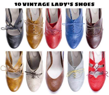 10 beautiful vintage ladys shoes photo