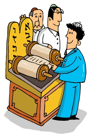 rabbi: Bar Mitzvah Illustration