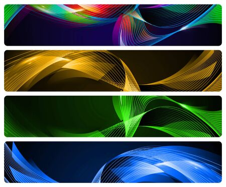 4 Abstract Banners for websites