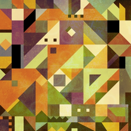 Abstract shapes background made of triangles in a square design