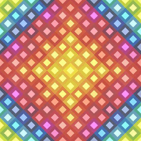 Spectrum of color wheel in a pattern made of colorful squares