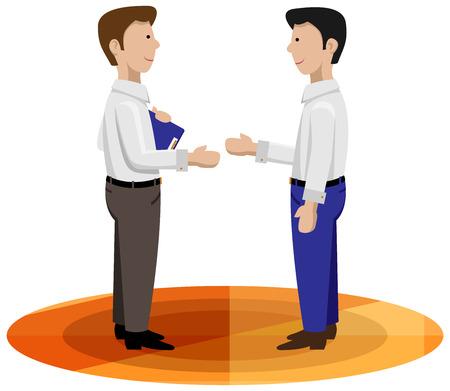 dandose la mano: Los hombres de negocios d�ndose la mano buena para el contrato de pr�stamo, servicio al cliente, vendedor