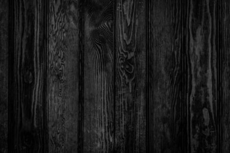 Door made of black wood panels texture - background in old style