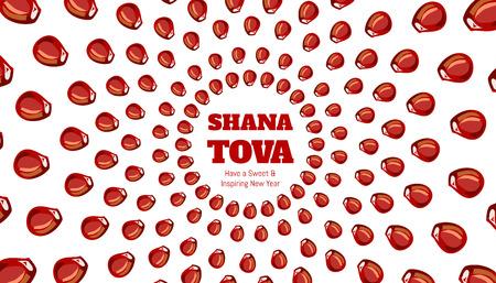 SHANA TOVA - Greeting card for inspiring and sweet new year Illustration