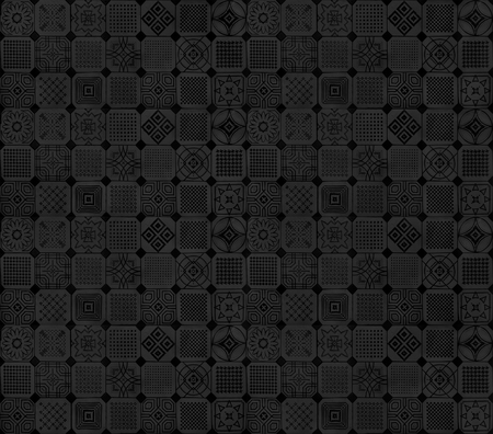 Black and grey ethnic Arabic ornaments with subtle  pattern tiles design background