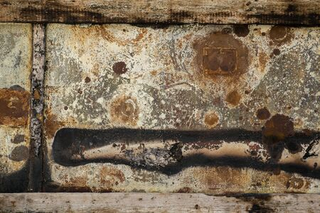 dirt texture: rust metal wall grunge texture old and dirt background material Stock Photo