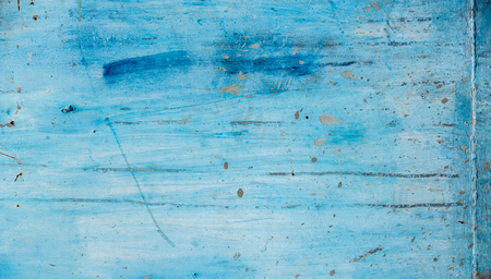 dirt texture: Blue wall background with rough texture dirt and brush strokes Stock Photo