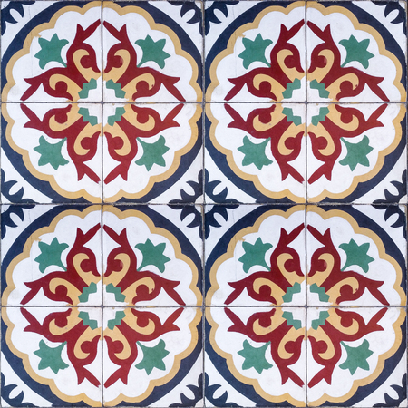 Ethnic Decorative seamless pattern of colorful tiles with ornaments that connect perfectly