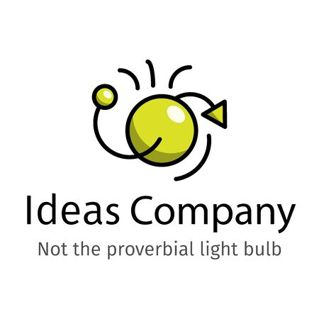 Simple icon for trendy Logo design that simulates a NEW IDEA concept. Can be used to create an identity brand