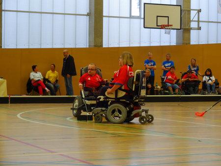 Czech Republic, PRAGUE - OCTOBER 11 2019: Powerchair hockey IPCH Qualification Tournament 2019 Reklamní fotografie - 136773513