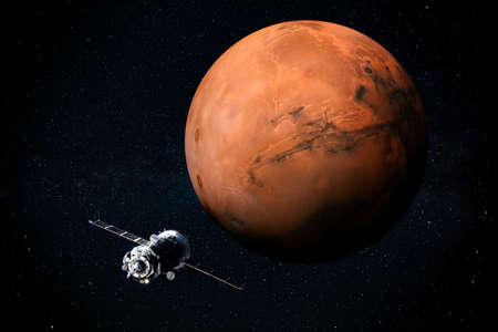 Exploration of Mars the Red planet of the solar system in space. This image elements furnished by NASA. Stock Photo