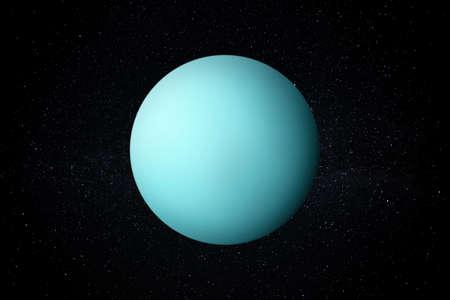 Planet Uranus in the Starry Sky of Solar System in Space. Reklamní fotografie