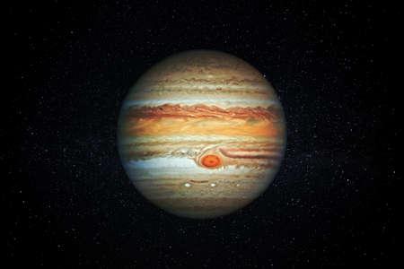 Planet Jupiter gas giant in the Starry Sky of Solar System in Space. Reklamní fotografie