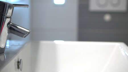 Coronavirus infection prevention. Photo of a clean sink in a bathroom Reklamní fotografie